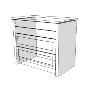 "2"" Cabinet Side Panel"
