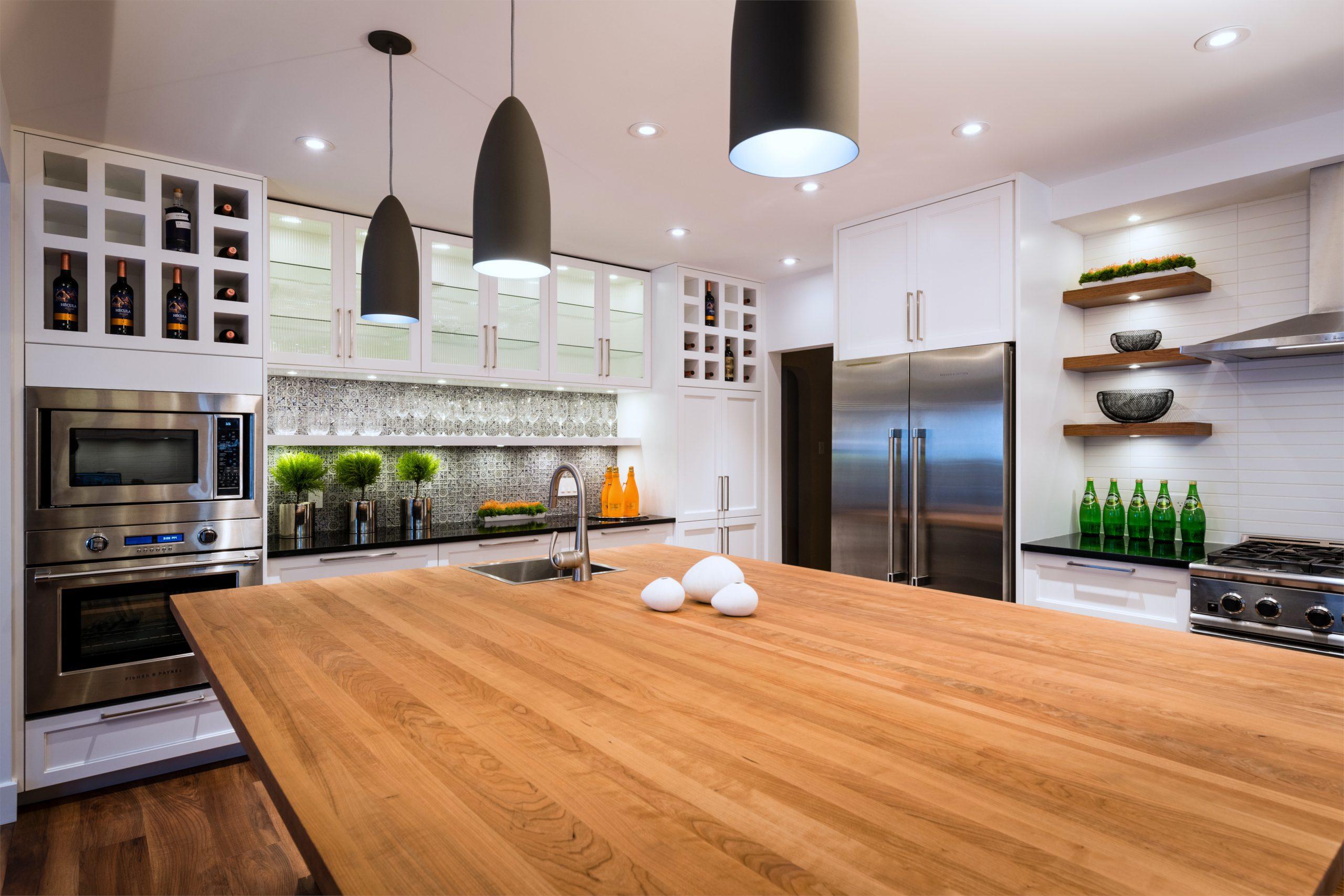 transitional step shaker kitchen