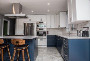 two tone kitchen remodel
